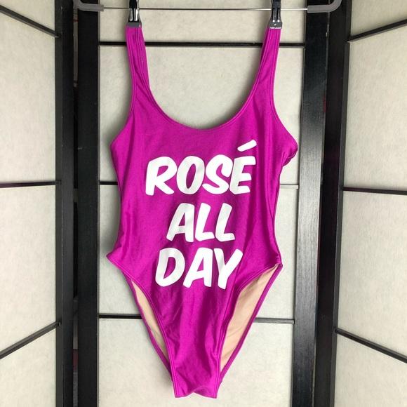 2823dc713ce Swim   Rose All Day One Piece Bathing Suit Fuchsia Sz M   Poshmark